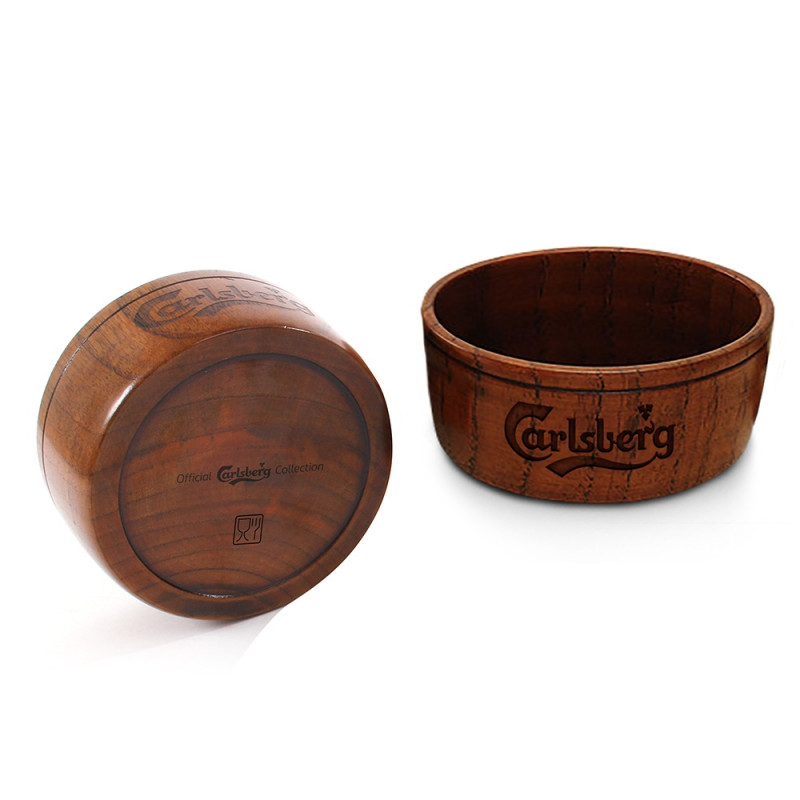 Carlsberg Wooden Snack Bowl